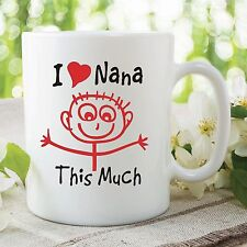 I Love Nana This Much Mug Grandma Mother's Day Gift Work Coffee Cup WSDMUG361