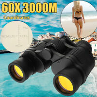 60X60 Zoom Day/Night Vision Outdoor HD Binoculars Hunting Telescope & Case SET