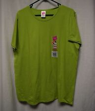 Womens Shirt Size XL By Hanes Green Tee NWT Short Sleeve Pull Over