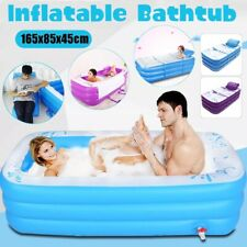 Inflatable Adult PVC Warm Bath Bathtub Foldable Indoor SPA Bathroom Tub