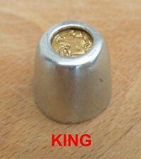 Viking Hnefatafl King Gaming Piece Lead/Pewter Re-enactment