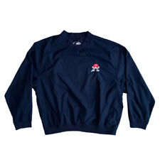 M&M Candies Men's XL Cyrk Clothing Co Pullover Windbreaker Jacket Golf Blue EUC