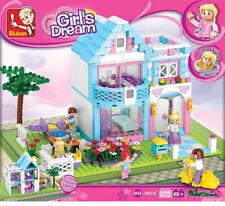 Sluban Bausteine-Set Familienhaus Girls Dream, kompatibel, 539 Teile Puppenhaus