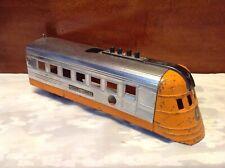 Vintage Lionel Lines Orange/Chrome Pressed Steel Locomotive Train Engine-Parts
