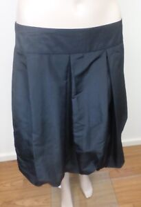 Womens Crossroads Black Pleated Skirt With Elasticated Bottom & Zip - Size 10