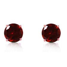 14K Solid Rose Gold Women's Beautiful Anna Garnet Stud Fashion Earrings 3.1 Ct