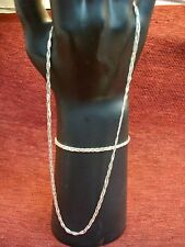 Combo - Nice - Have A Look Sterling Silver Woven Style Necklace And Bracelet