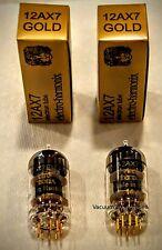 Electro-Harmonix GOLD PAIR TWO NEW  12AX7 12AX7EH Gold Pin Tubes