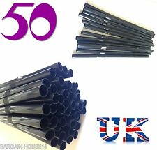 50 x  Black High Quality  Flexible Smoothie / Milkshakes Drinking Straws