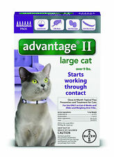 Bayer Advantage II Flea Prevention for Large Cats Pets, Over 9 lb, 6 doses NEW
