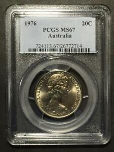 Australia, 1976 20C PCGS MS67