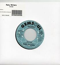 RUBY WINTERS     BETTER / IN THE MIDDLE OF A HEARTACHE   UK GEMMSOUL/OUTTASIGHT
