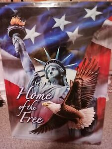 """12""""X17"""" METAL SIGN  HOME 0F THE FREE"""