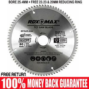 RDXMAX® TCT Circular Wood Blade 210mm x 80T fits Evolution Rage Saws 25.4mm Bore