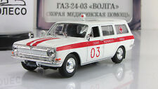 "Gaz-24-03 Ambulance 1985 ""Municipal cars Ussr"" New 1:43 DeAgostini #15"