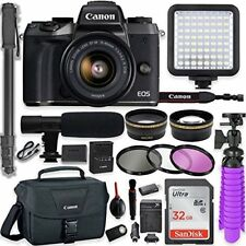 Canon EOS M5 Mirrorless Digital Camera w/ 15-45mm Lens + Professional Video Kit