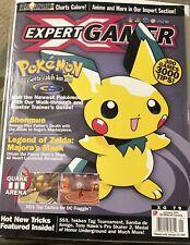 EXPERT GAMER VIDEO GAMING MAGAZINE JANUARY 2001 POKEMON PIKACHU ZELDA