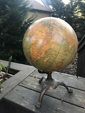 Antique C. S. Hammond & Co 12 Inch New Terrestial Globe Bronze Claw Foot Base