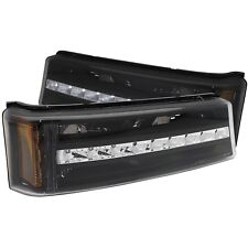 Anzo Parking/signal Lights Black G2 Amber For 03-06 Chevy Silverado/Avalanche