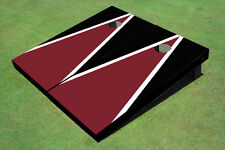 Maroon And Black Custom Cornhole Board - 1092