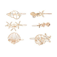 Girl Pearl Hair Clip Metal Crystal Barrettes Headwear Women Jewelry Accessories-