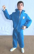 vintage palitoy ACTION MAN - SPORTSMAN ATHLETE OLYMPIC blue tracksuit - 70's