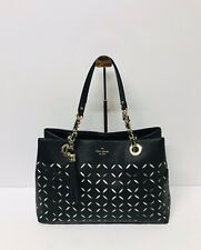 KATE SPADE Perforated Court LEATHER Tote Handbag Brief Case