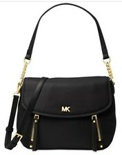 New Michael Kors evie Hobo supple leather sunflower black shoulder bag flap