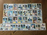 1983 MILWAUKEE BREWERS Topps COMPLETE Baseball Team SET 33 Cards YOUNT FINGERS!