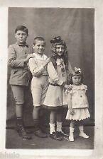 BK999 Carte Photo vintage card RPPC Enfant famille ordre croissant petit grand