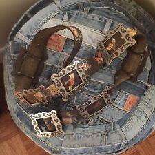 Cowboy Belt Decor Western concho belt rockabilly leather belt vinatge sz. 36