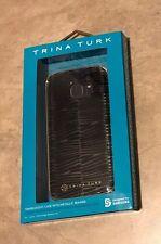 Trina Turk Translucent Case w/ Gold Metal Bumper Samsung Galaxy S7 NEW in box