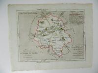ancienne carte LA TOURAINE