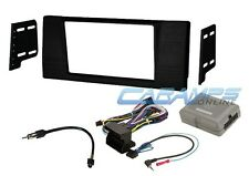 E39 5 SERIES DOUBLE 2 DIN CAR STEREO RADIO DVD/CD INSTALL KIT W/ HARNESS & SWC