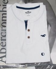 NWT Hollister HCO Men Soft Must Have Slim Fit Henley Tee Shirt By Abercrombie