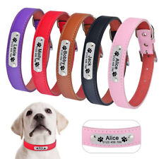 Personalized Dog Collar Free Engraved Name Adjustable Small Medium Large Pet Dog