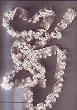 ruban galon tissu - fil / blanc blanc cassé   - 1,70 metres