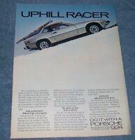 "1978 Porsche 924 Vintage Color Ad ""Uphill Racer"""