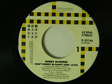 Bobby McFerrin 45 DON'T WORRY BE HAPPY bw SIMPLE PLEASURES   EMI VG+ to VG++ r&b