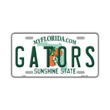 "Metal Vanity License Plate Tag Cover - (Gators) University of Florida - 12"" x 6"""