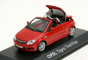 MINICHAMPS Opel Tigra TwinTop - Modell Bj. 2004-2009, M.1 : 43, Red, New And Ob