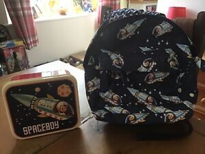Cute Children's Spaceboy Backpack And Lunch Box. Never Used