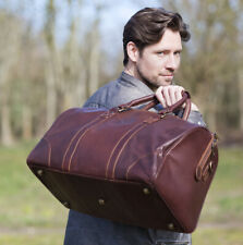 Wombat Thick Oiled Luxury Leather Large Holdall Travel Bag Duffle Gym