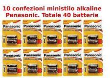 40 PILE MINISTILO AAA ALKALINE PANASONIC POWER-BATTERIE MINISTILO LR03