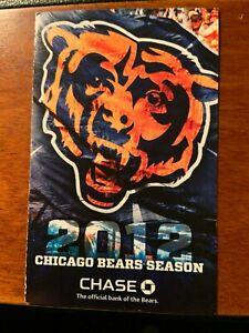 2012 Chicago Bears Pocket Schedule