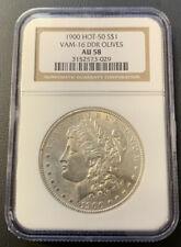 1900 Morgan Silver Dollar NGC AU58 VAM 16 DDR OLIVES! 029 ENN COINS