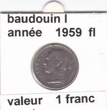 BF 3 )pieces de 1 francs  baudoui 1   1959  belgie &