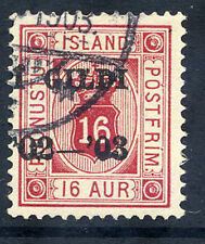 ICELAND 1902  Overprint on official  16 aurar, used.
