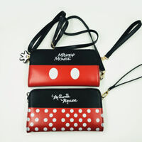 Mickey Minnie Mouse Shoulder Hand Bag Wallet Purse Card Money Party Phone Holder