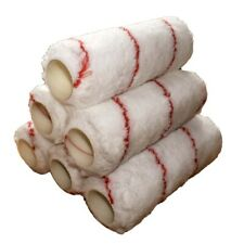 """6 PACK Harris 9"""" Inch EXTRA LONG PILE Woven Acrylic Refill Roller Paint Sleeves"""
